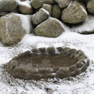 Sand Coated Ground Heated Birdbath