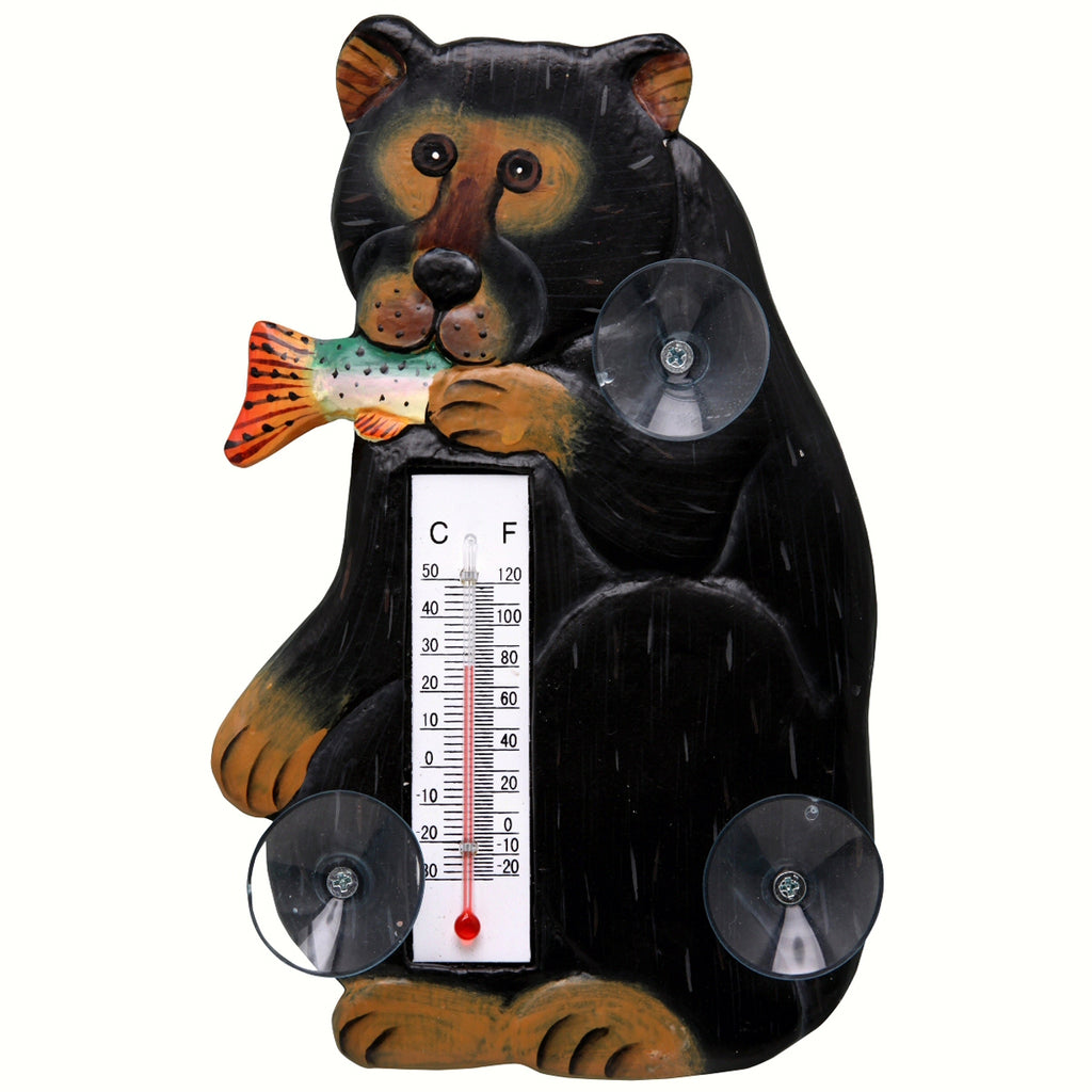 Black Bear Window Thermometer Small