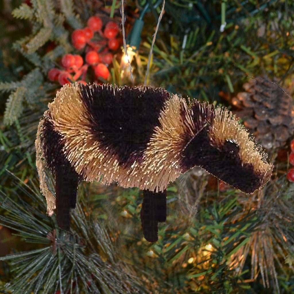 Cow Bristle Brush Ornament