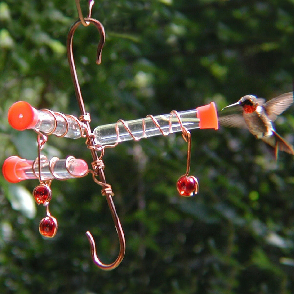 Whimsy Three Hummingbird Feeder