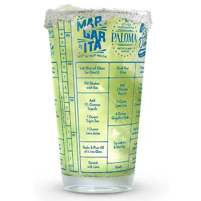 Tequila Recipe Measuring Glass 16 oz
