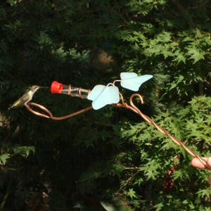 Copper Ivy Wand Hummingbird Feeder