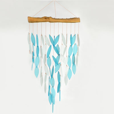 Blue Waterfall Glass Wind Chime