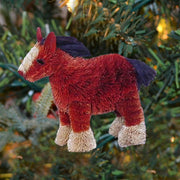 Horse Shire Buri Bristle Ornament