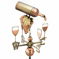 Wine & Glasses Copper Weathervane