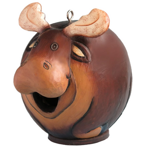 Moose Gord-O Wooden Birdhouse