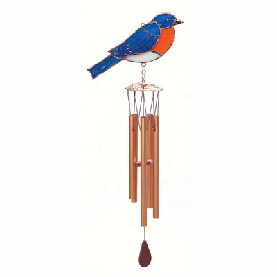 Bluebird Stained Glass Wind Chime 20 inch