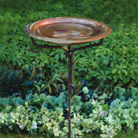 Copper Birdbath w/Iron Twig Stand - Momma's Home Store