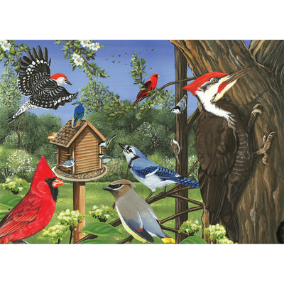 Around the Birdfeeder 35 Piece Tray Puzzle