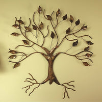 Copper Tree Flamed Metal Wall Sculpture