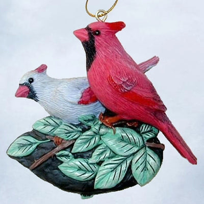 Cardinal Pair Tree Ornament