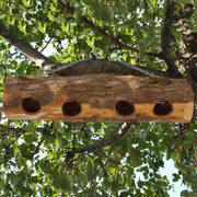 Cedar Suet Upside Down Log Feeder 4 Plug