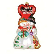 First Christmas Together Glass Ornament