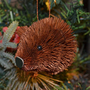 Bear Bauble Bristle Brush Ornament