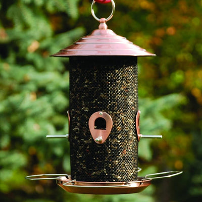 Brushed Copper Mixed Seed Bird Feeder