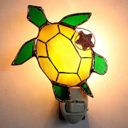 Sea Turtle Stained Glass Night Light