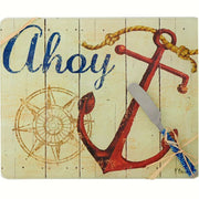 Ahoy Nautical Glass Cheese Board