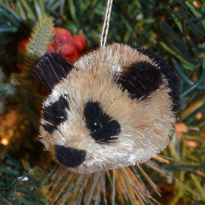 Panda Bauble Bristle Brush Ornament