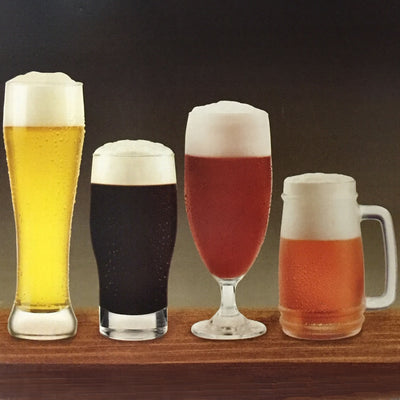 Cristar Beer Glasses Assorted Set of 4