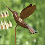 Hummingbird Flamed Ornament Garden Stake