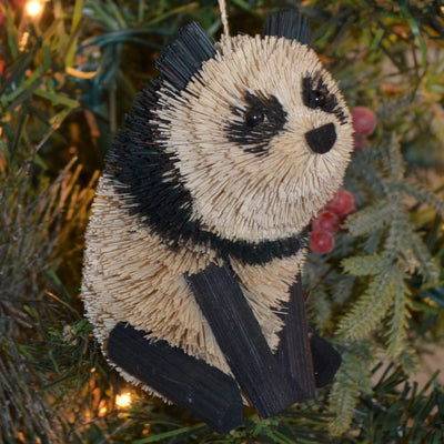 Panda Bear Bristle Brush Ornament