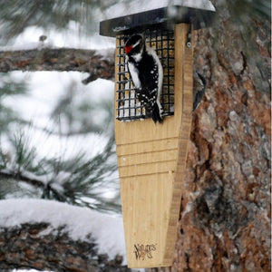 Tail Prop Cedar Suet Bird Feeder