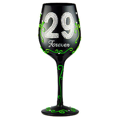Birthday 29 Forever Wineglass