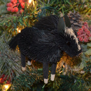 Horse Black Bristle Brush Ornament