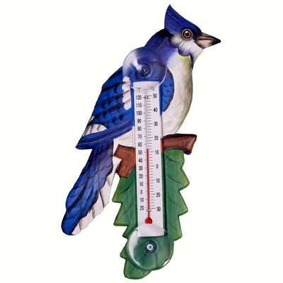 Blue Jay Window Thermometer Small