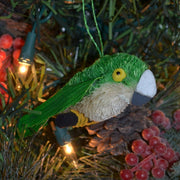 Parakeet Bristle Brush Ornament