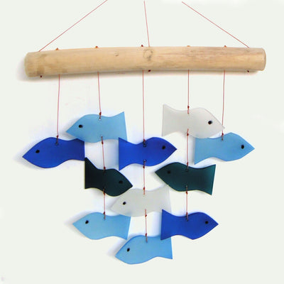 Fish School Glass Wind Chime