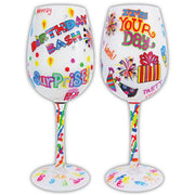 Birthday Bash Wineglass