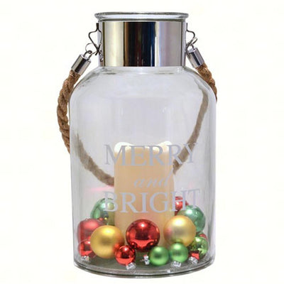 Merry & Bright LED Canister