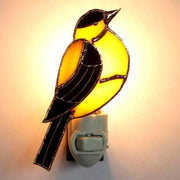 Goldfinch Stained Glass Night Light