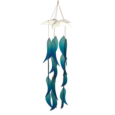 Fish Catch Glass Wind Chime