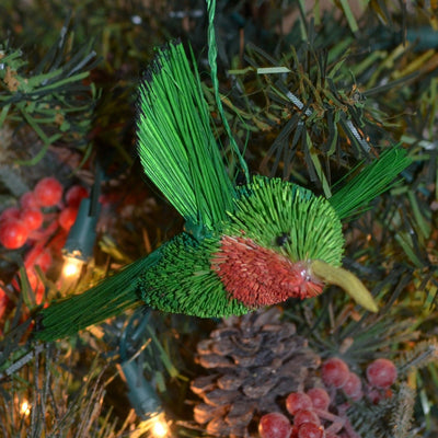 Hummingbird Bristle Brush Ornament