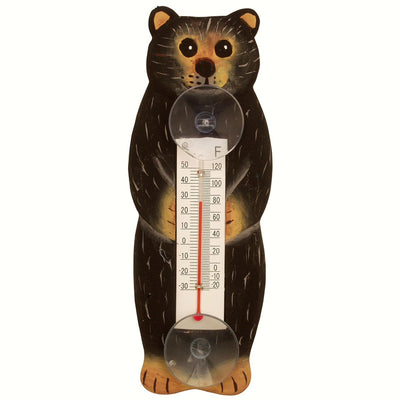 Brown Bear Window Thermometer Small