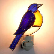 Bluebird Stained Glass Night Light