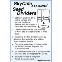 Sky Cafe Bird Feeder Divider Accessory