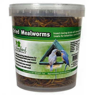 Dried Mealworms Bird Food Tub