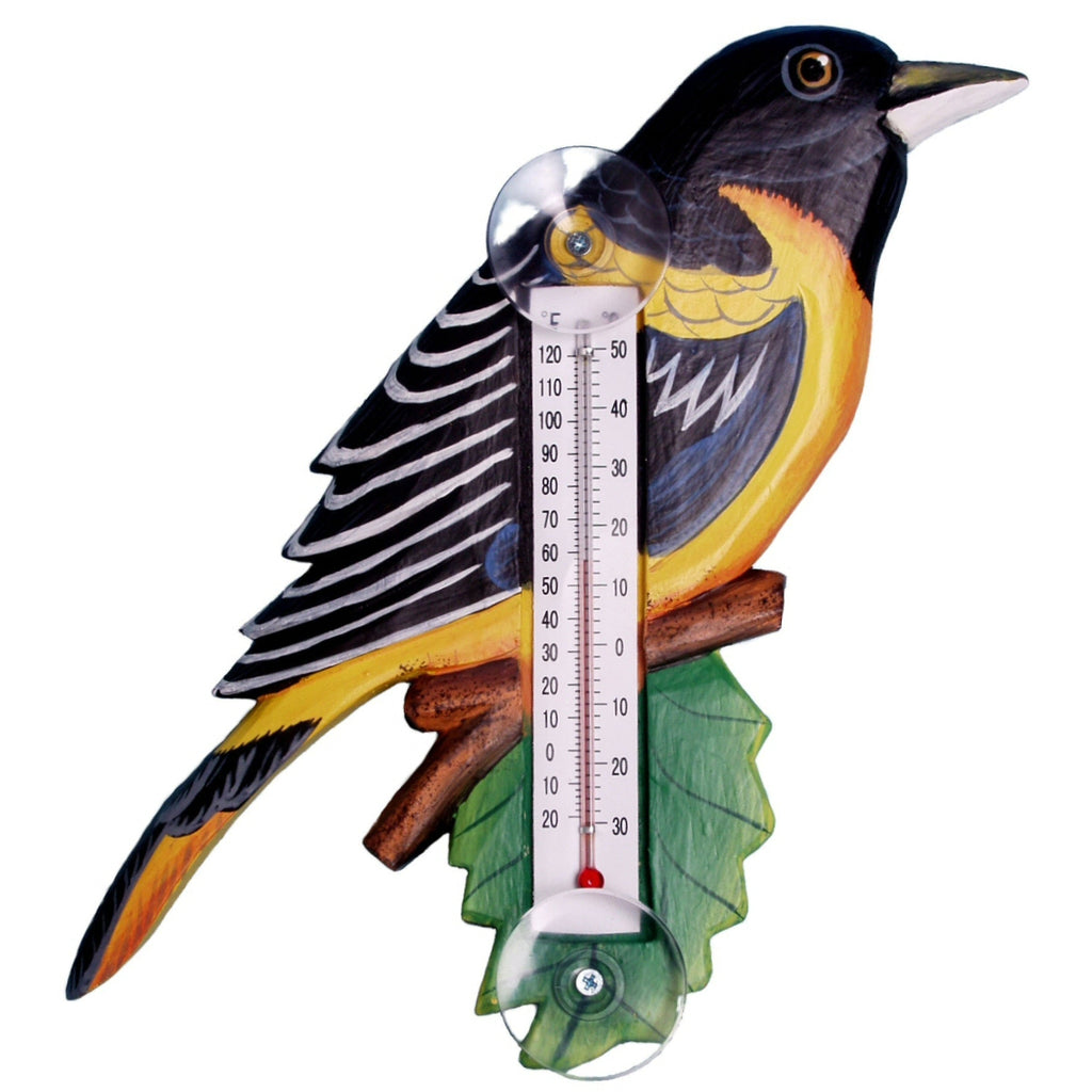 Baltimore Oriole Window Thermometer Small