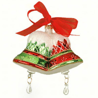 Christmas Bells Glass Ornament