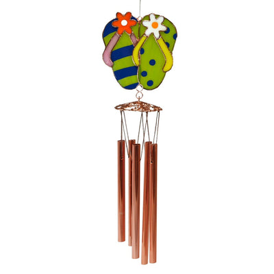 Flip Flops Stained Glass Wind Chime