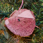 Pig Bauble Bristle Brush Ornament