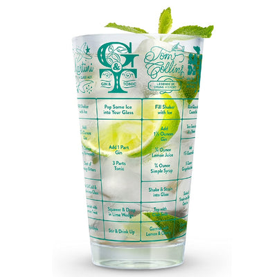 Gin Recipe Measuring Glass 16 oz