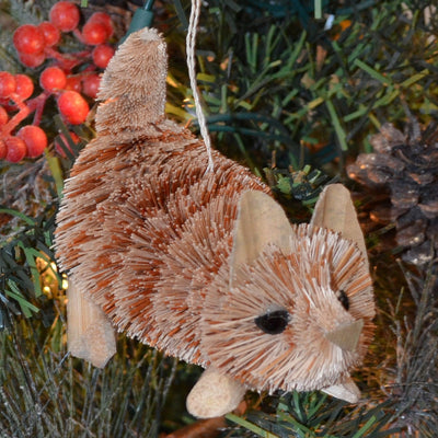 Kitten Bristle Brush Ornament
