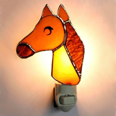 Horse Stained Glass Night Light