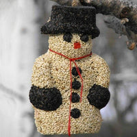 Holiday Snowman Bird Seed Ornament