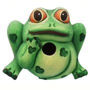 Frog Friend Wooden Birdhouse