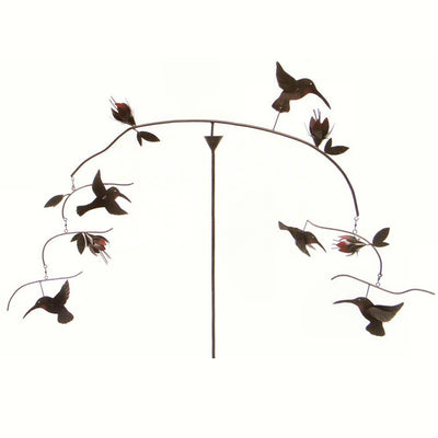 Hummingbird Kinetic Balancer Garden Stake
